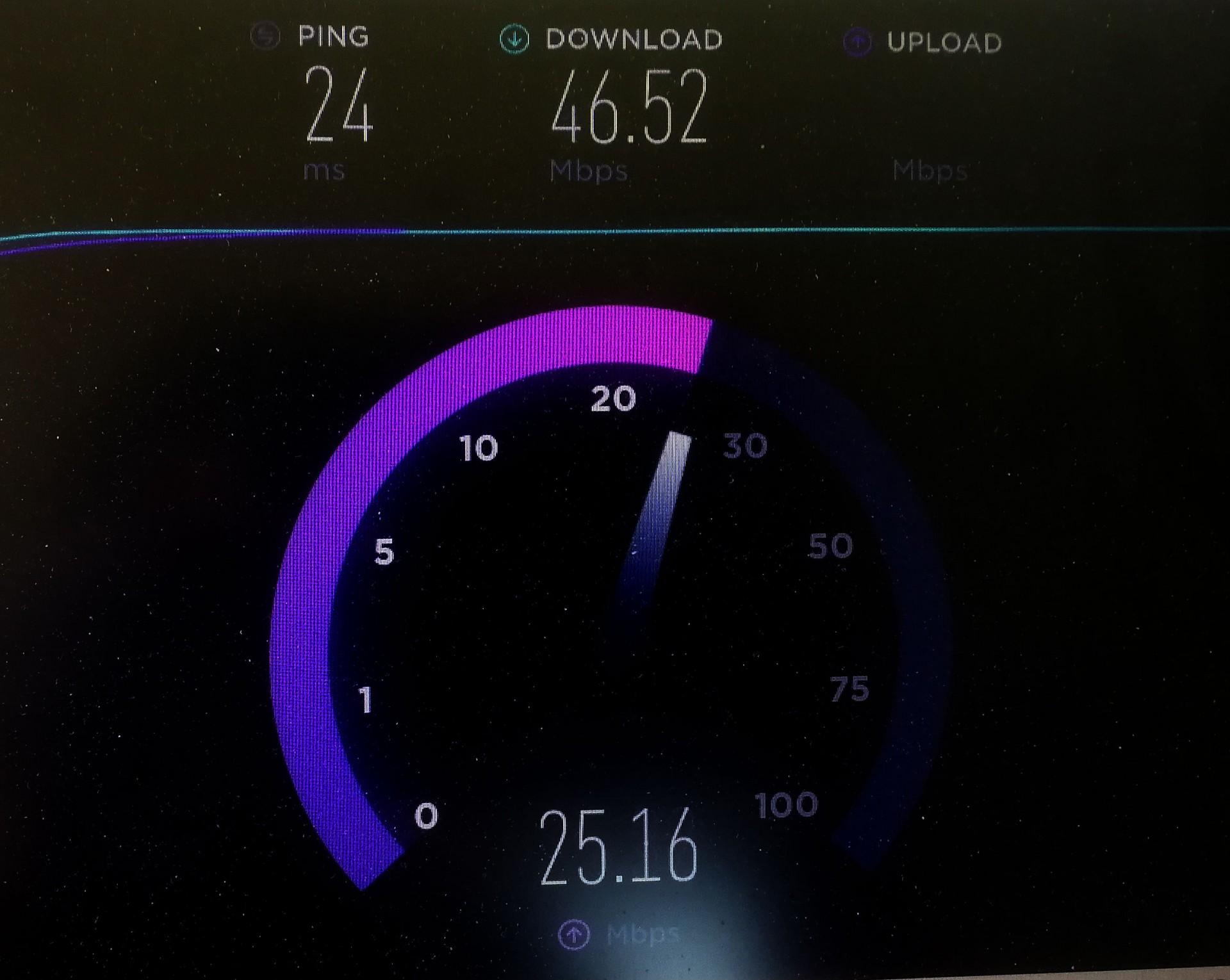 50 Megabit rychlost